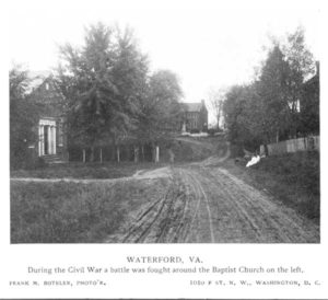 Baptist Church (c. 1905) where the Civil War battle occurred in Waterford Virginia