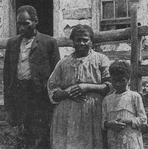 Hiram, Rosella, and Leanna Price, Scotland Farm, c. 1890 Waterford VA
