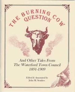 The cover of the Burning Cow booked from the Waterford Foundation