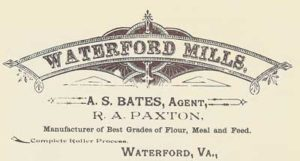 Advertisement for the Old Mill at Waterford VA