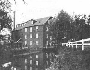 The mill and its race as it appeared early in the 20th century