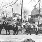 The tanyard in 1900 (opposite the Mill in Waterford VA)
