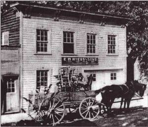 Wagon of Chairs in 1910 in Waterford Virginia