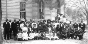 Mr. Winton Walker and his Second Street School pupils, circa 1920 in Waterford VA