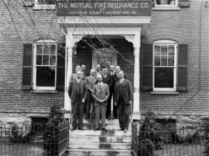 Loudoun Mutual employees at their third location on Patrick Street in Waterford Virginia