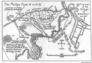 Map o the Phillips Farm in Waterford Virginia
