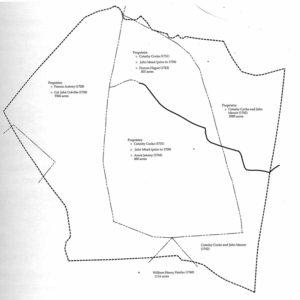 Property boundaries circa 1740