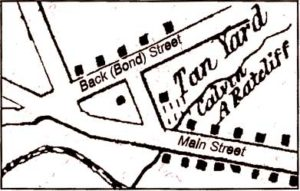 Map of the tannery in Waterford Virginia