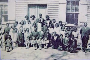 Mr. Winton Walker and his pupils, circa 1920 at the Waterford Second Street School