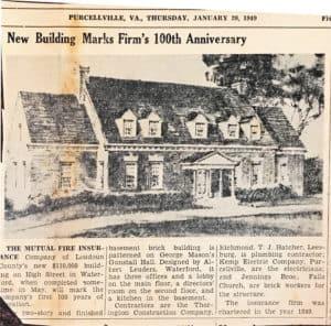 Loudoun Mutual centennial in 1949