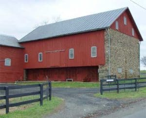 Forbay barn from before the Civil War located outside of the village on Loyalty Road