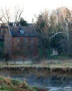 Waterford Mill by Catoctin Creek in Waterford Virginia