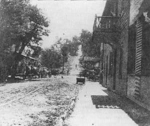 Looking up the big hill in 1894 from 40171 Main in Waterford Virginia