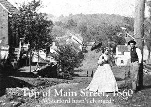 Annie and Silas Hough, Main Street, Waterford VA, 1867