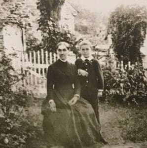 Rachel Means and her son circa 1860