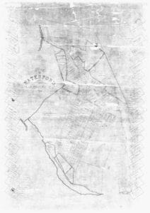 1875 map of Waterford VA from surveys by James Skinner Oden