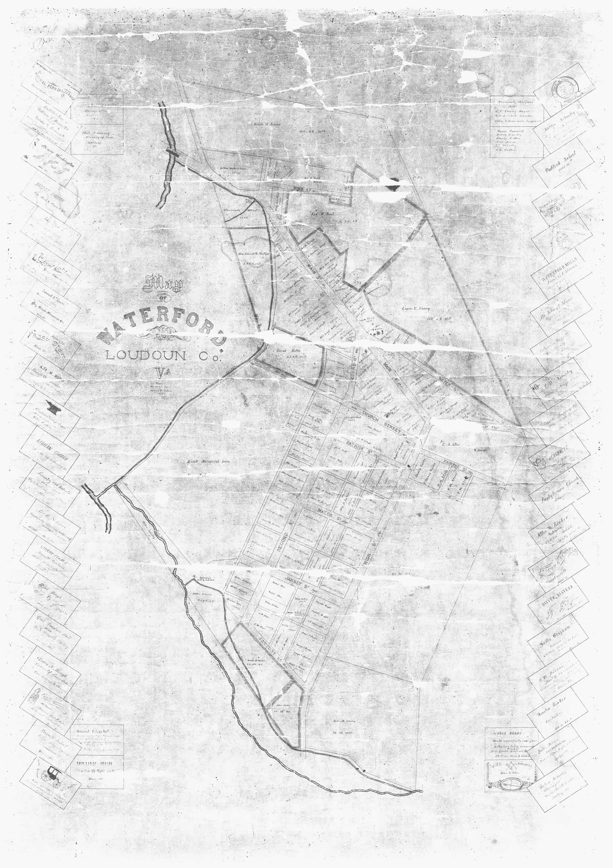 1875 Map Of Waterford Map 2 History Of Waterford Virginia